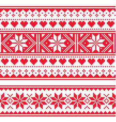 scottish fair isle style seamless pattern vector image