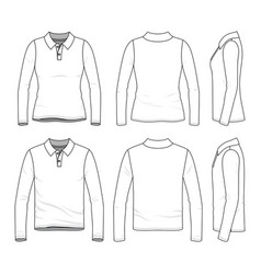 Set of polo shirts vector
