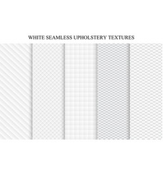 set of soft seamless white textures vector image