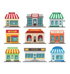shops stores exteriors vector image
