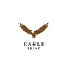 silhouette eagle phoenix hawk symbol stock il vector image