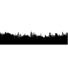 Silhouette forest panorama vector