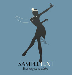 Silhouettes dancing jazz or swing-05 vector