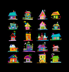 sketch art houses for your design vector image