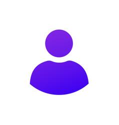 Solid purple gradient user icon web icon vector