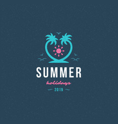 Summer holidays label or badge typography slogan vector