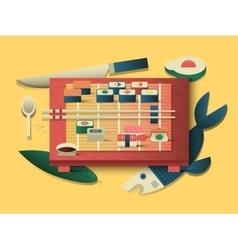 Sushi design flat vector image