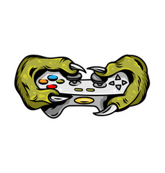 t-rex which keep gamepad joystick control machine vector image