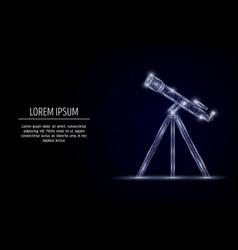 telescope geometric polygonal art style vector image