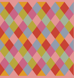 Trendy pale colors rhombus pattern background vector
