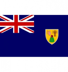 turks and caicos islands flag vector image