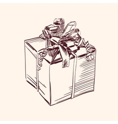 Vintage gift box vector image