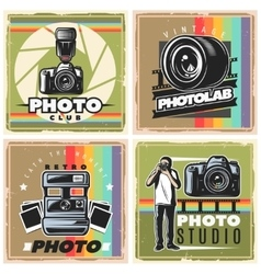 Vintage Photographer Posters Composition vector image