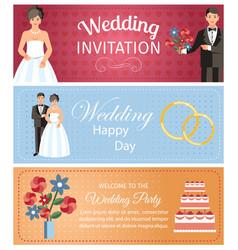 Wedding organization services banner template vector