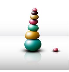 zen stones heap pebbles pile vector image
