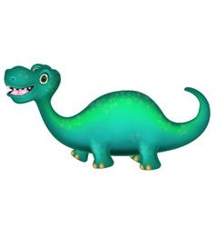 cute Brontosaurus cartoon vector image
