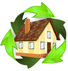 Ecological and Energy Saving Concept vector image