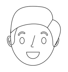 face smiling man adult cartoon character vector image