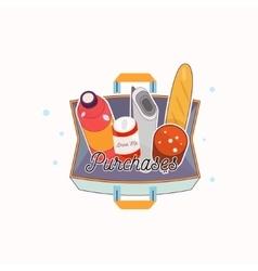 full shopping bag vector image