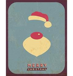 Retro Vintage Minimal Merry Christmas Background vector image