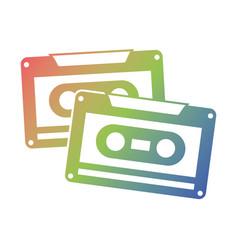 cassettes recorder tape music vintage vector image