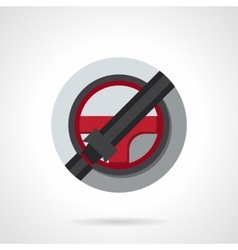 Driver safety round flat color icon vector image