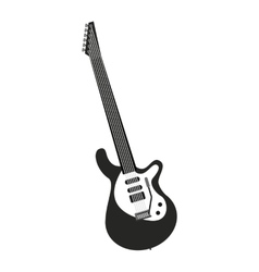 electric guitar isolated icon design vector image vector image