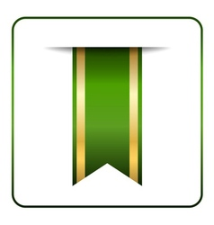 Green gold bookmark vector image vector image