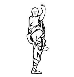 Shaolin monk vector image