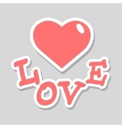 Valentine day theme vector image