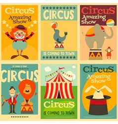 circus posters vector image