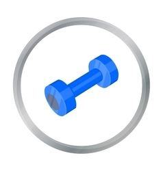 Dumbbells icon cartoon Single sport icon from the vector image vector image