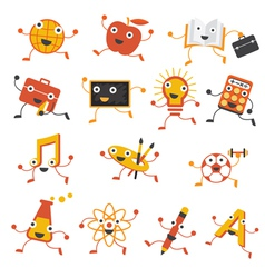 Education Characters Set vector image vector image