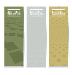 Set of three abstract vertical banners vector
