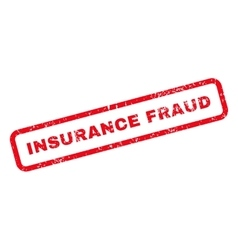Insurance Fraud Text Rubber Stamp vector image vector image