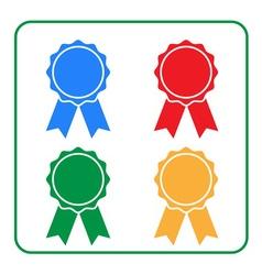 Ribbon award icons set 2 vector image vector image