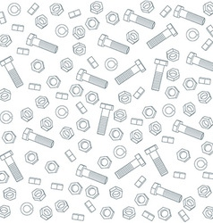 Seamless nuts and bolts vector image