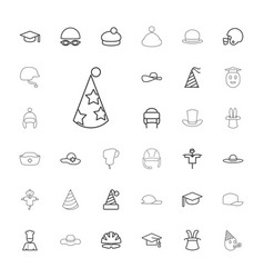 33 hat icons vector