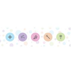 5 shot icons vector