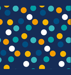 abstract bright color polka dot seamless pattern vector image