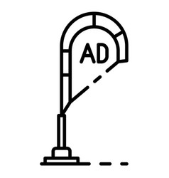 ad on pillar icon outline style vector image