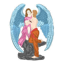 angel in love vector image