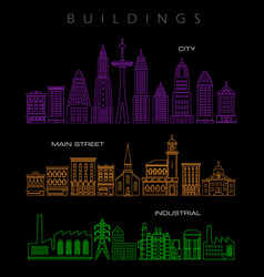 architectural in neon colors vector image