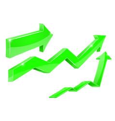 Arrows green financial indication arrows vector