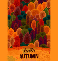 autumn design with autumn forest template vector image
