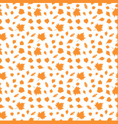 autumn seamless pattern with leave vector image