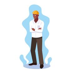 Avatar cartoon engineer man design icon vector