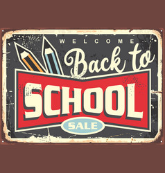 Back to school vintage sign design vector
