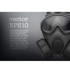 Background of Military black gasmask vector