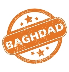 Baghdad round stamp vector image